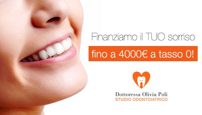 Finanziamenti a tasso 0 studio dentistico olivia poli Torino studio odontoiatrico finanziamenti con Compass